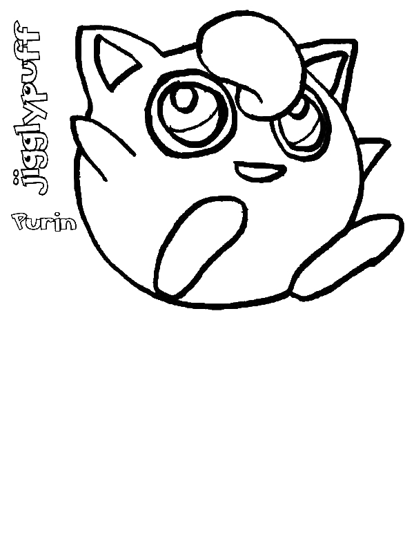 Cute Pokemon Jigglypuff Coloring Page Download Print