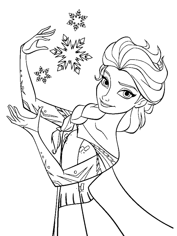 Elsa the Snow Queen Making Snowflakes