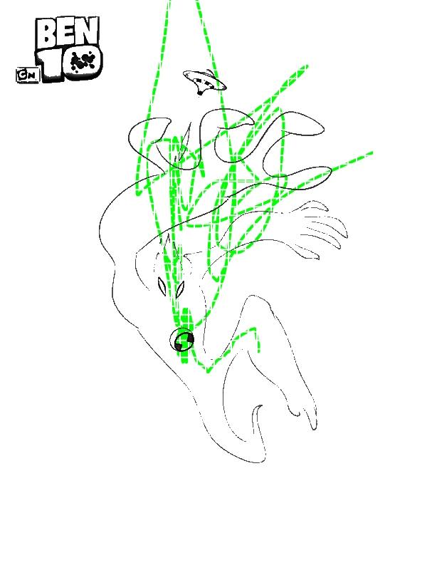 goop from ben 10 alien force coloring page - download & print ... - Ben Ten Alien Force Coloring Pages