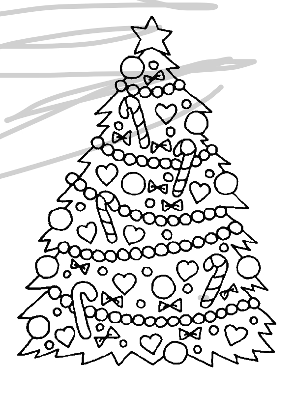 Gorgeous Christmas Tree For Coloring Page By 12 Years Old Marianne94btinternet Com