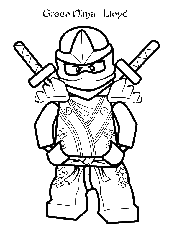 green ninja lloyd coloring page by 8 years old grim gamer