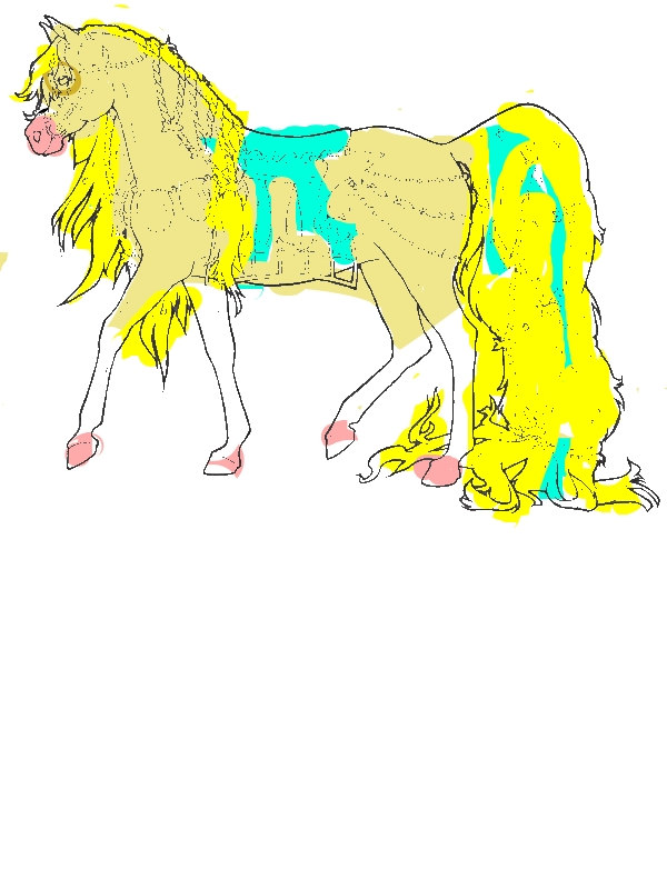 Horse with Long Ponytail in Horses