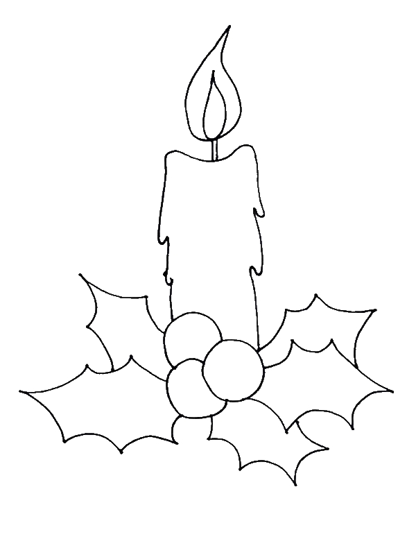 How to Draw Christmas Candle Coloring