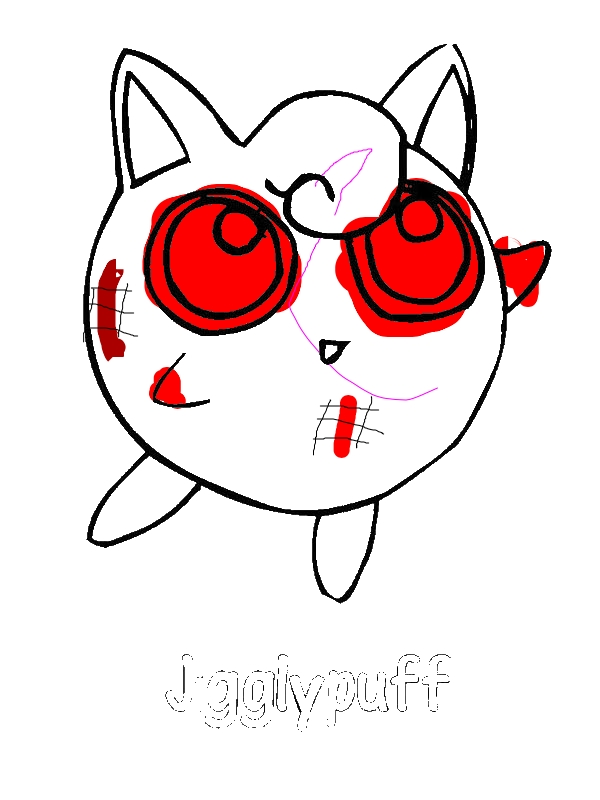 Jigglypuff coloring page download print online for Jigglypuff coloring page