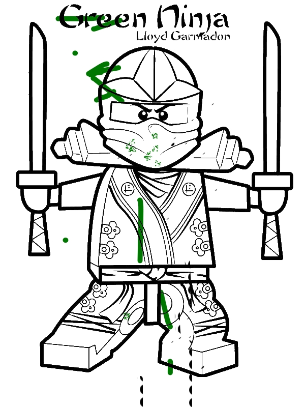 Lloyd Garmadon Ninjago Green Ninja Coloring Page - Download & Print ...