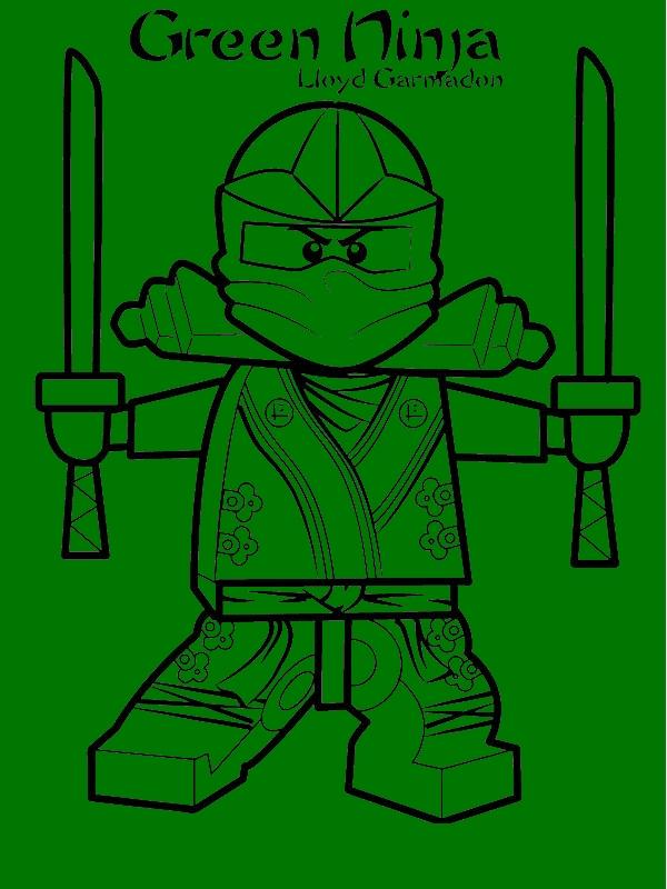 Lloyd Garmadon Ninjago Green Ninja Coloring Page - Download ...