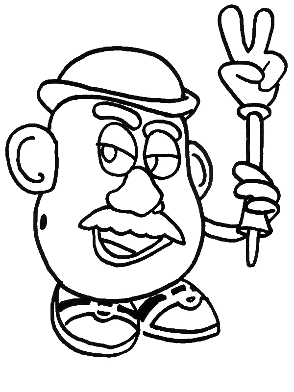 Meet Mr Potato Head in Toy Story Coloring Page Download