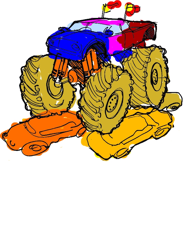 monster truck maximum destruction coloring page download