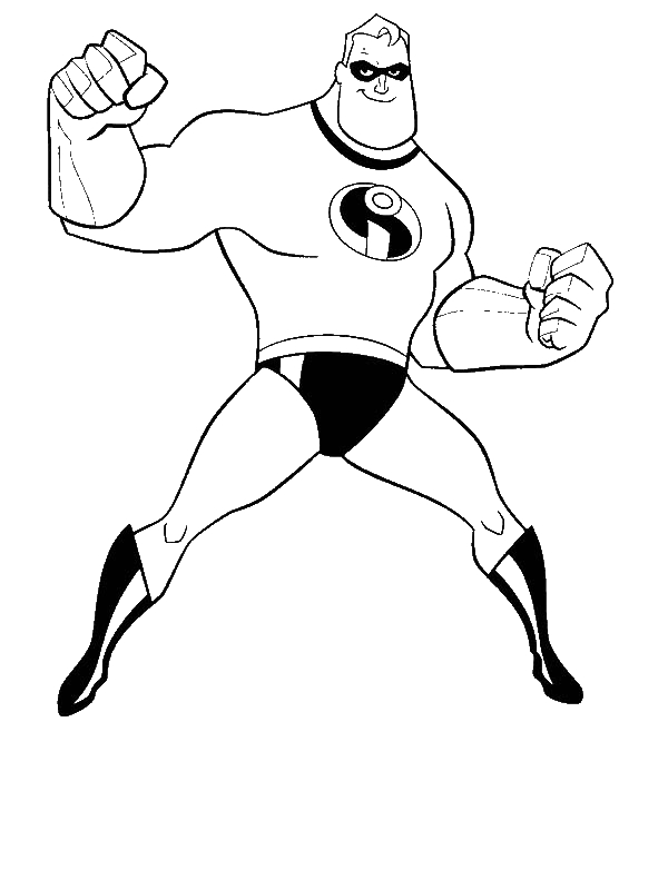 Mr Incredibles From The Incredibles Coloring Page