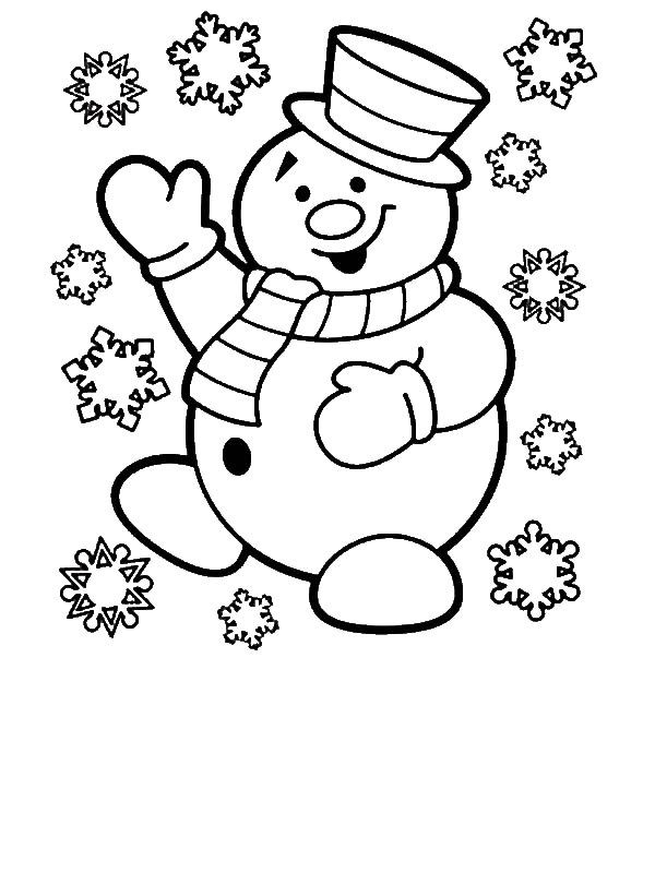 mr snowman is very happy for christmas coloring page by 9 years old atira