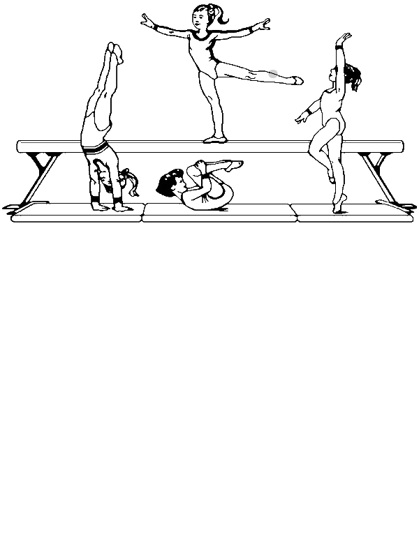 Olympic Gymnastic Coloring Page By Years Old
