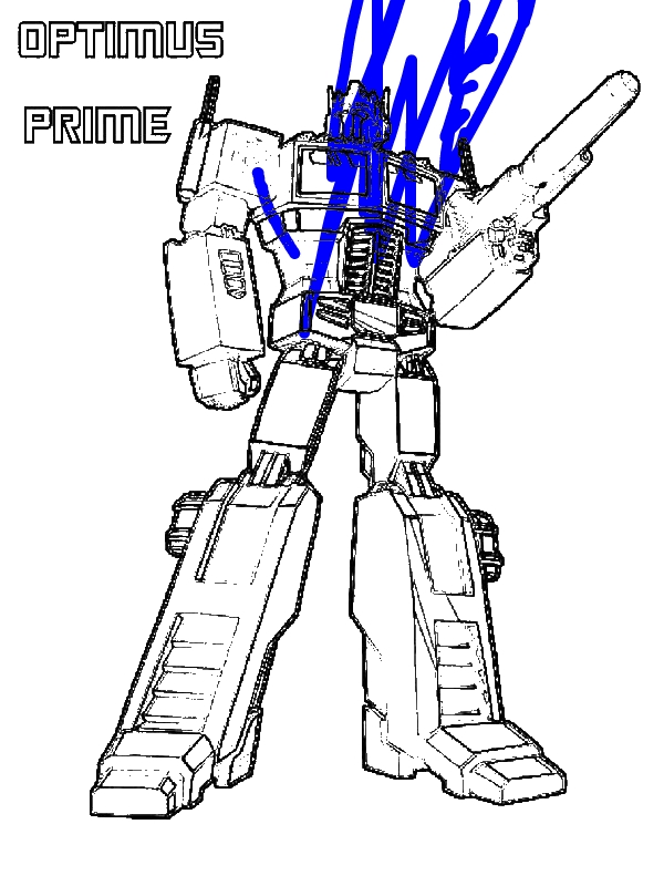 Optimus Prime from Transformers Coloring Page Download Print