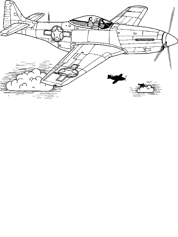 p 51 cockpit coloring pages - photo #10