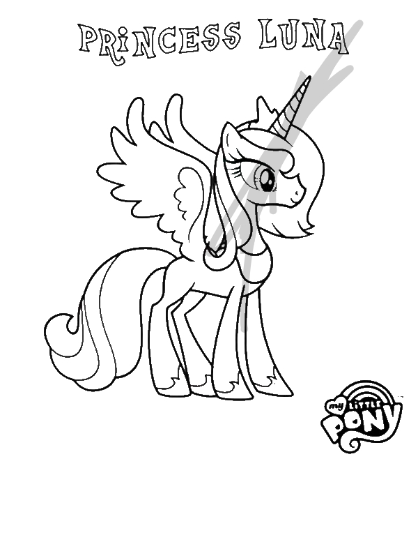 Princess Luna In My Little Pony Coloring Page By Years Old