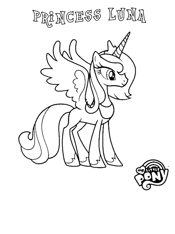 old my little pony coloring pages - princess luna in my little pony coloring page download