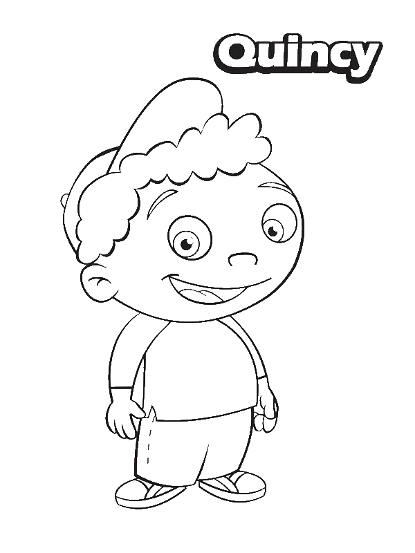 Quincy from Little Einsteins Coloring Page Download Print