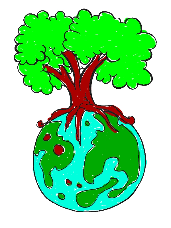 Save Our Forest on Earth Day Coloring
