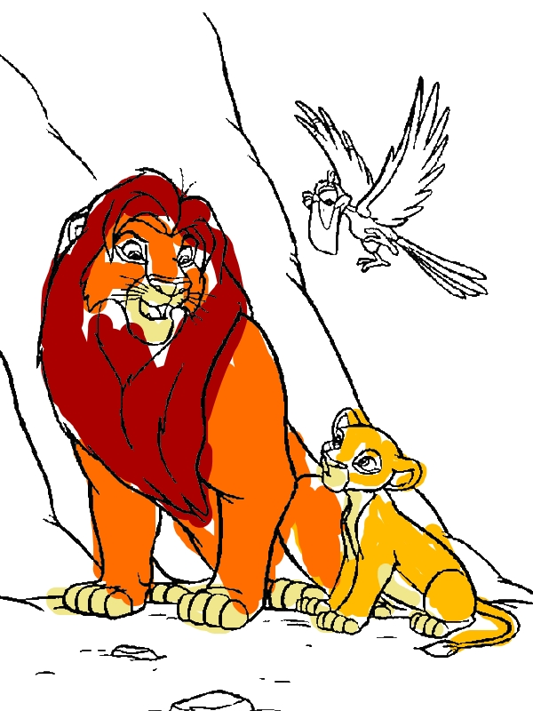 Disneys The Lion King The Deluxe Coloring Book