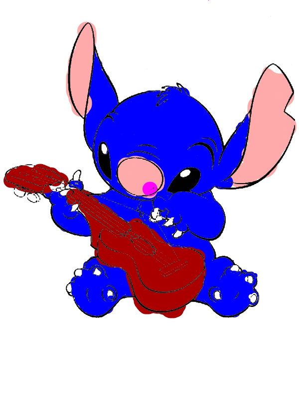 Group Of Lilo And Stitch Guitar