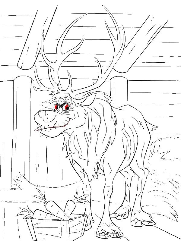 Sven At His Barn Coloring Page Download Amp Print Online