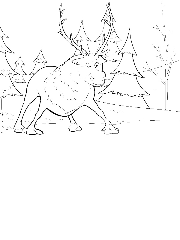 Coloring Page by years old Sven Coloring Pages