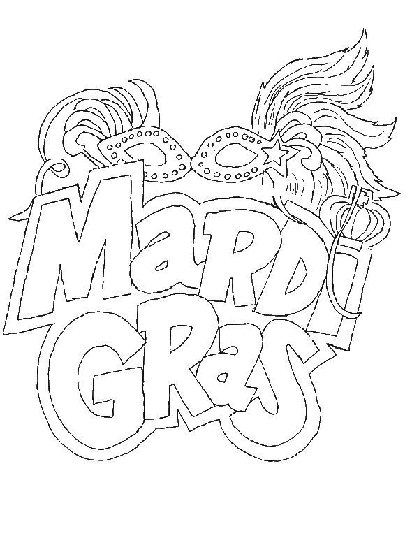 the carnival season of mardi gras coloring page by years old