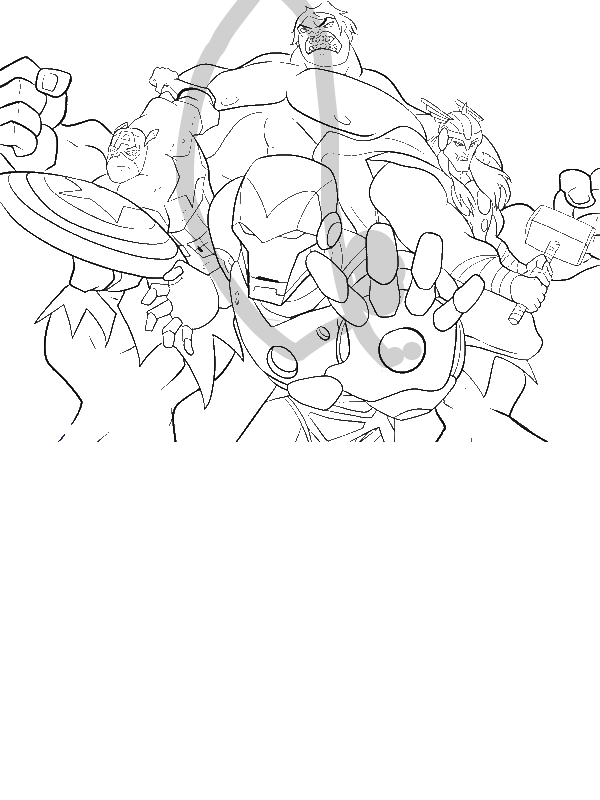 Avengers Tower Coloring Pages : The heroic avengers coloring page download print