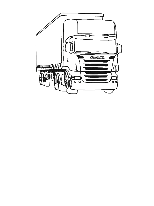 tractor trailer semi truck coloring page by 8 years old layla