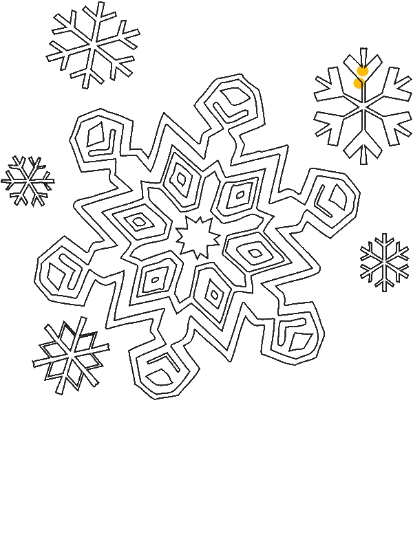 Coloring Pages Snowflakes  Elioleracom
