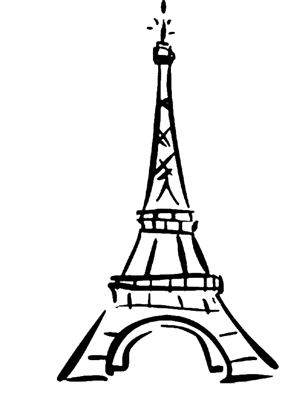 World Destination Eiffel Tower Coloring Page By Years Old