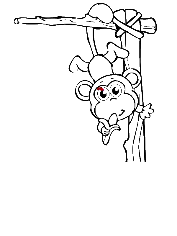 baby monkey circus coloring page by 5 years old ghdhfdh - Coloring Pages For 5 Year Olds