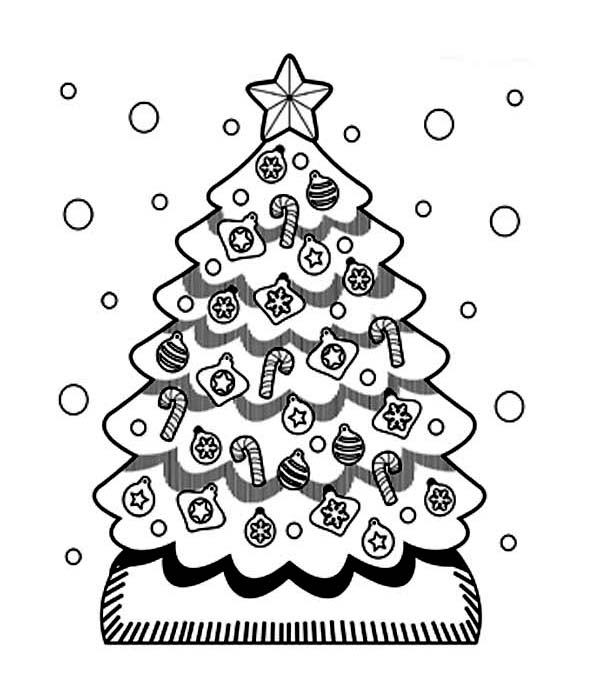 cute christmas tree coloring pages coloring page