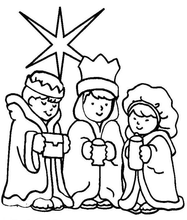 Three Wise Men on Christmas Day Coloring Page - Download ...