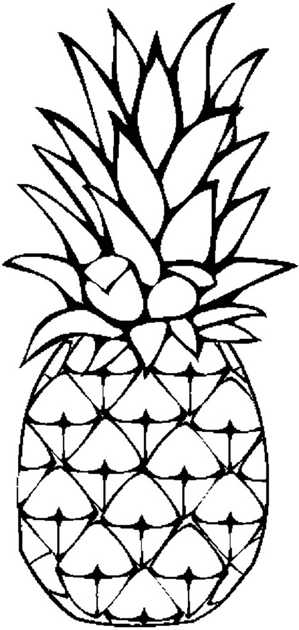 A Sweet Caribbean Pineapple Coloring Page - Download ...