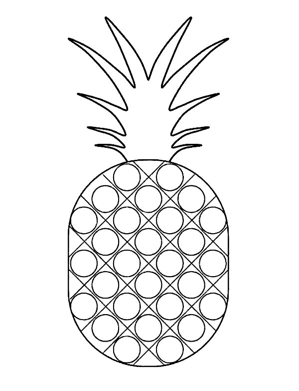 Dotted Pattern Pineapple Coloring Page Download Amp Print