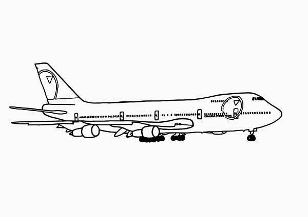 747 Jumbo Jet Coloring Page Download