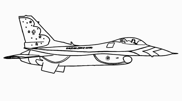 F16 Protect Our Sky Coloring Page