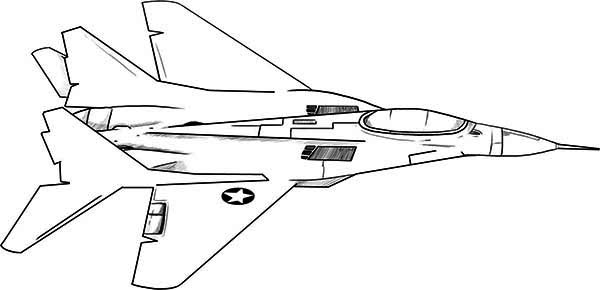 F18 jet fighter coloring page: F18-jet-fighter-coloring ...