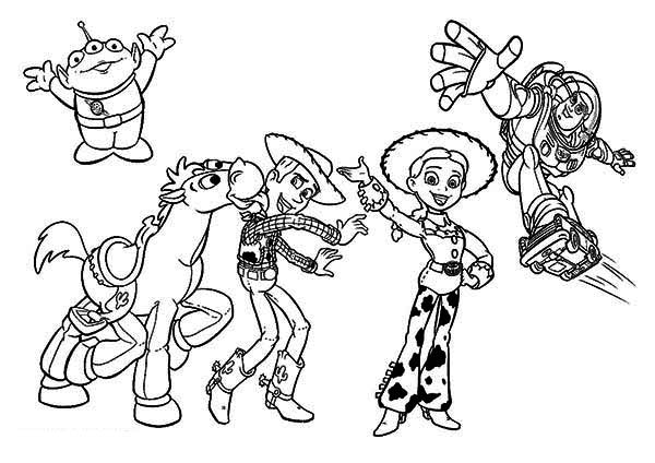 Some of the Characters in Toy Story