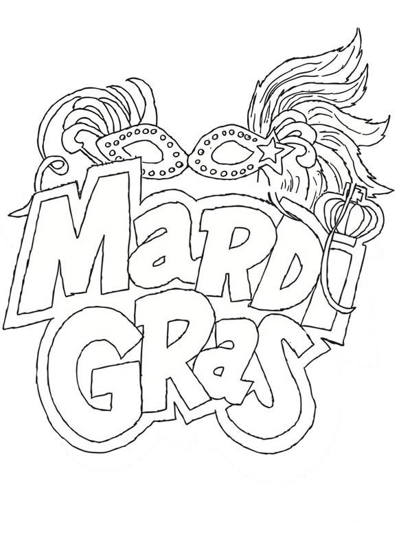 The Carnival Season Of Mardi Gras Coloring Page - Download ...