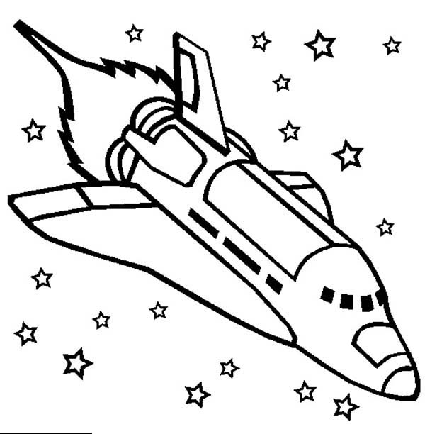 challenger space shuttle rocket ship coloring page ...