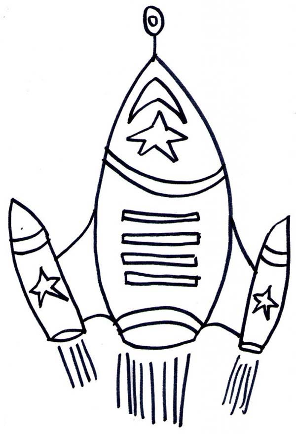rocket ship top speed coloring page - Download & Print ...