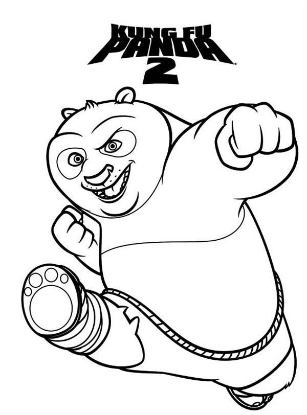 Amazing Dragon Warrior of Kung Fu Panda Coloring Page ...
