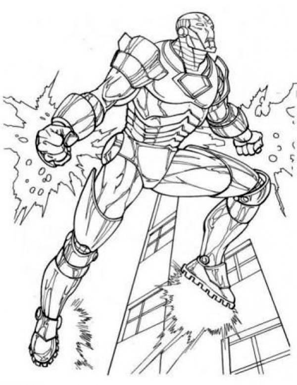 amazing iron man in the avengers coloring page - download
