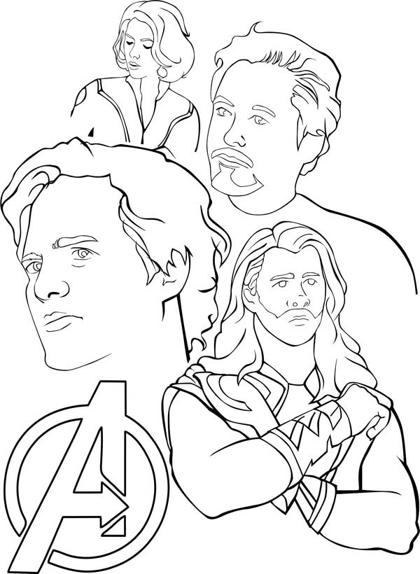 Amazing The Avengers Coloring Page - Download & Print ...