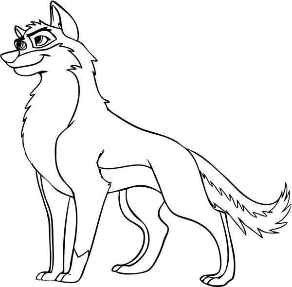 Animation Wolf Coloring Page - Download & Print Online ...