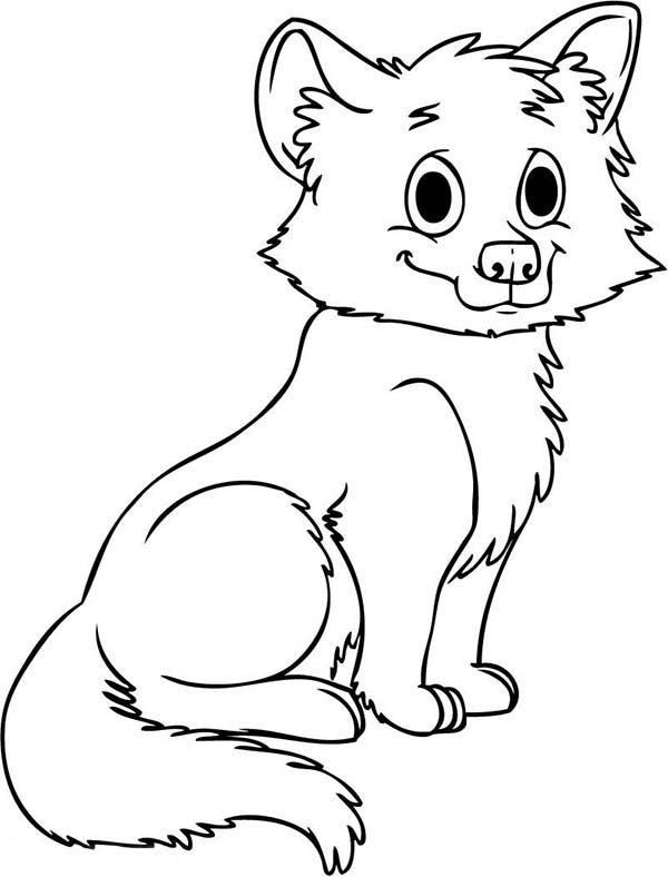 cute baby wolf coloring page download print online coloring pages for free color nimbus. Black Bedroom Furniture Sets. Home Design Ideas