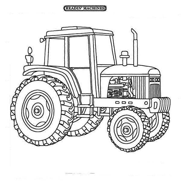 farmer on tractor coloring pages - photo#24