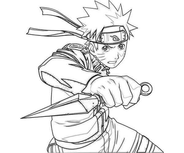 Great Uzumaki Naruto Coloring Page