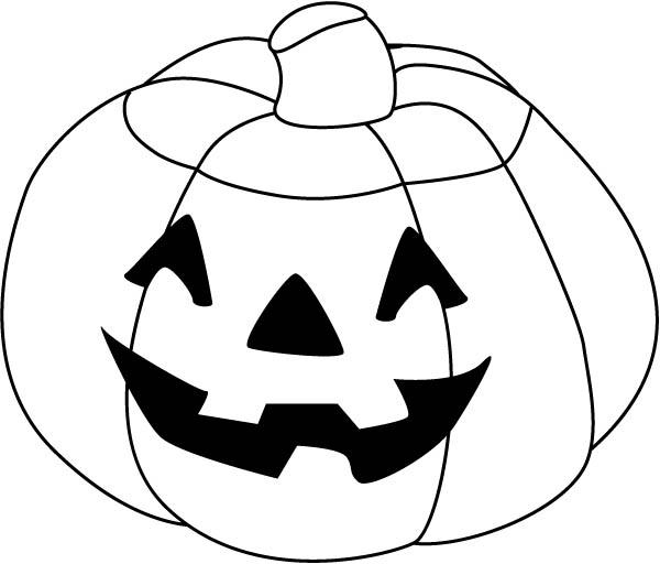 Happy Halloween Pumpkins Coloring